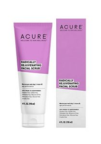 ACURE Radically Rejuvenating Facial Scrub | 100% Vegan | Provides Anti-Aging Support | Moroccan Red Clay & Rose Oil…
