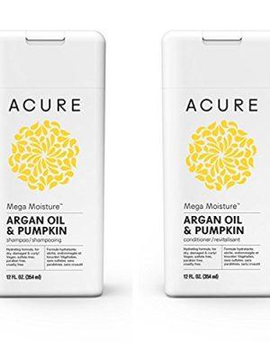 Acure Mega Moisture – Argan Oil & Pumpkin, 12 Fluid Ounces (Variety Pack)