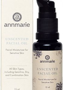 Annmarie Skin Care Herbal Facial Oil for Sensitive Skin – Unscented Facial Oil with Squalane, Sacha Inchi Oil + Camellia…