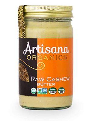 Artisana Organics Raw Cashew Butter – No Sugar Added, Vegan and Paleo Friendly, Non GMO, 14oz Jar
