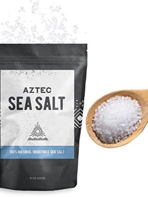 Aztec Coarse Unrefined Sea Salt 100% Natural Gourmet Kosher, 8oz