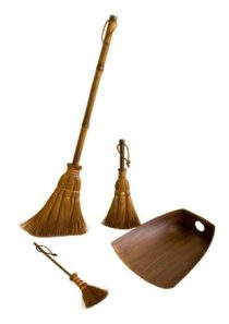 Big Palm broom, Small broom, Table broom and Dustpan, 4 piece set