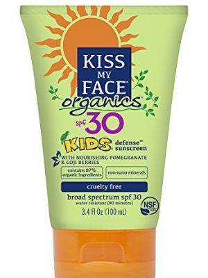 Kiss My Face Kids Mineral SPF 30 Natural Organic Sunscreen, 3.4 Ounce