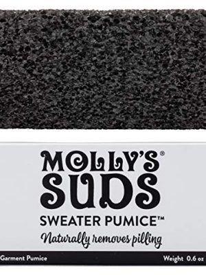 Molly's Suds Sweater Pumice, Naturally Removes Pilling from Garments, 0.6 oz