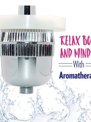 New Wave Shower Filter With Free Aromatherapy Diffuser Ring