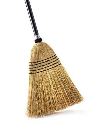 O-Cedar Heavy Duty Corn Broom   Commercial-Grade Indoor and Outdoor Broom to Sweep & Clean Hard Floors  Sturdy Wooden…