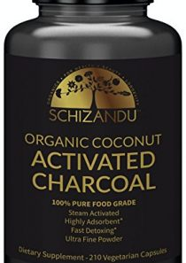 Schizandu Organics Activated Coconut Charcoal Capsules, 100% Pure Detox, Non GMO | 210 Pills | Use for Detoxification…
