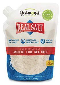 REDMOND Real Sea Salt – Natural Unrefined Gluten Free Fine, 26 Ounce Pouch (1 Pack)