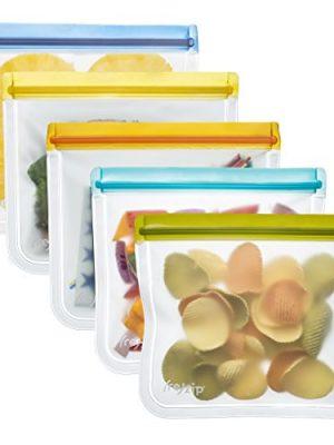 rezip Lay-Flat Lunch Leakproof Reusable Storage Bag 5-Pack (Multicolor)