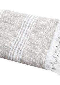 SALBAKOS Turkish Peshtemal Fouta Towel, 100% Organic Cotton, Shower / Toallas De Baño/Bano 40 x 70 Inch, Herringbone…