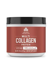 Ancient Nutrition Multi Collagen Protein Powder, 5 Types of Food Sourced Collagen, Providing Types I, II, III, V, and X, 8.6oz