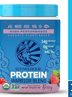 Sunwarrior – Warrior Blend, Plant Based, Raw Vegan Protein Powder with Peas & Hemp