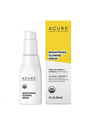 Acure Brightening Glowing Serum   100% Vegan   For A Brighter & Appearance   Argan Oil, Pumpkin & Cranberry – Hydrates…