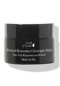 100% PURE Retinol Restorative Overnight Balm, Anti-Aging Night Cream, Pure Retinol Cream, Sleep Balm for…