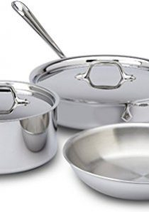 All-Clad 401599 Stainless Steel Tri-Ply Bonded Dishwasher Safe Cookware Set