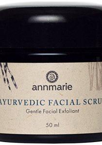Annmarie Skin Care Ayurvedic Facial Scrub – Gentle Facial Exfoliant with Rosemary, Moroccan Rhassoul Clay + Fenugreek…