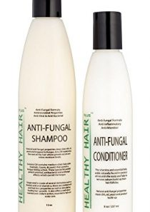Antifungal Shampoo (12oz) & Conditioner (8oz) Combo with Emu Oil, Coconut Oil and Grapefruitseed Extract