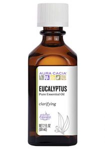 Aura Cacia 100% Pure Eucalyptus Essential Oil | GC/MS Tested for Purity | 60 ml (2 fl. oz.) | Eucalyptus globulus