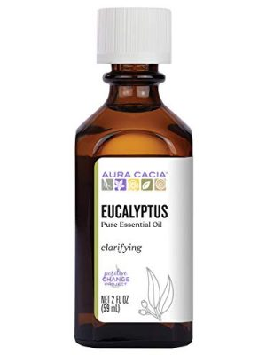 Aura Cacia 100% Pure Eucalyptus Essential Oil | GC/MS Tested for Purity | 60 ml (2 fl. oz.) | Eucalyptus globulus