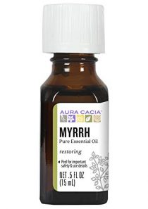 Aura Cacia 100% Pure Myrrh Essential Oil | GC/MS Tested for Purity | 15 ml (0.5 fl. oz.) | Commiphora myrrha