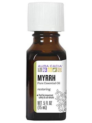 Aura Cacia 100% Pure Myrrh Essential Oil | GC/MS Tested for Purity | 15 ml (0.5 fl. oz.) | Commiphora myrrha