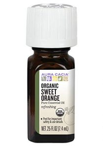 Aura Cacia 100% Pure Sweet Orange Essential Oil | Certified Organic, GC/MS Tested for Purity | 7.4 ml (0.25 fl. oz…
