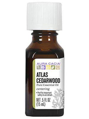 Aura Cacia Atlas Cedarwood Essential Oil | GC/MS Tested for Purity | 15ml (0.5 fl. oz.)