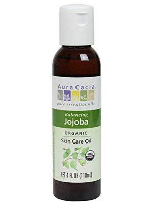 Aura Cacia Organic Jojoba Skin Care Oil   GC/MS Tested for Purity   118ml (4 fl. oz.)