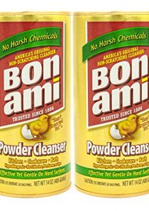 Bon Ami Powder Cleanser for Kitchens & Bathrooms – All Types of Surfaces, Cleans Grime & Dirt, Polishes Surfaces…