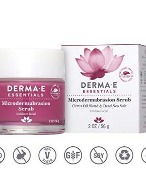 DERMA E Microdermabrasion Scrub with Dead Sea Salt- essential Microderm quality facial scrub works as an exfoliator to…