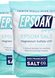 Epsoak Epsom Salt – 10 lbs. (Qty 2 x 5 lb. Bags) Magnesium Sulfate USP