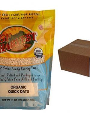 GF Harvest Gluten Free Organic Quick Oats, Non-GMO, Certified Organic, 41 Ounce, 6 Count