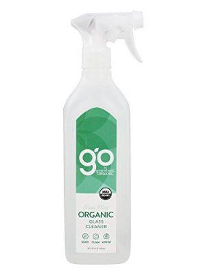 GO by greenshield organic, USDA Certified Organic 26 oz. Glass Cleaner- Fresh Mint
