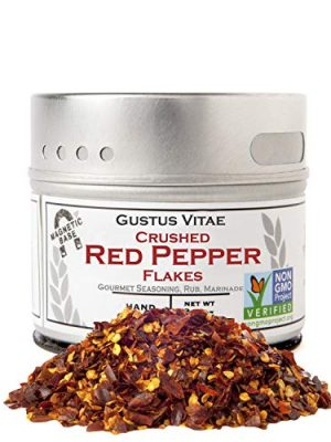 Crushed Red Pepper Flakes – Non GMO Verified – Magnetic Tin – Small Batch – Artisanal Seasoning – Gourmet Spice – 1.2…