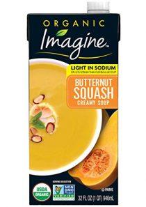 Imagine Organic Low Sodium Creamy Soup, Butternut Squash, 32 Oz (Pack of 12)