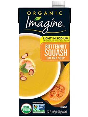 Imagine Organic Low Sodium Creamy Soup, Butternut Squash, 32 Fl Oz (Pack of 12)
