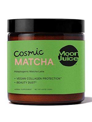 Moon Juice – Cosmic Matcha – Mushroom Based Adaptogenic Matcha Powder Latte Mix for Healthy Skin & Energy – Matcha…