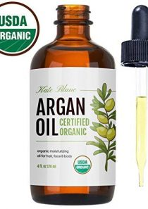 Moroccan Argan Oil, USDA Certified Organic, Virgin, 100% Pure, Cold Pressed by Kate Blanc. Stimulate Growth for Dry and…