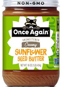 Once Again Organic Sunflower Butter – Peanut Free, Salt Free, Unsweetened – 16 oz Jar