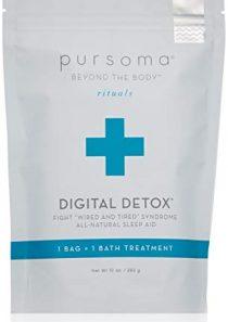 Pursoma Digital Detox Bath Soak   All-Natural Sleep Aid with French Grey Sea Salt and French Green Clay   Relaxing Bath…