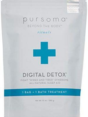 Pursoma Digital Detox Cleansing Bath Soak, Natural Sleep Aid and Sleep Soak with French Green Clay and French Grey Sea…