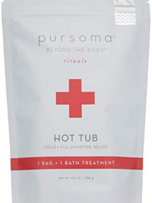 Pursoma Hot Tub Vapor Bath Salts and Sinus Steamer for Cold and Flu, Congestion and Natural Allergy Relief with Ginger…