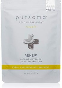 Pursoma RENEW Coconut Body Polish with French Grey Sea Salt, Organic Coconut Husks, and Dry Oil Infusion   Detoxifying…