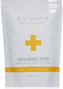 Pursoma Resurrection Energizing Anti-Fatigue Bath Therapy with French Grey Sea Salt, Brown and Organic Green Seaweed…
