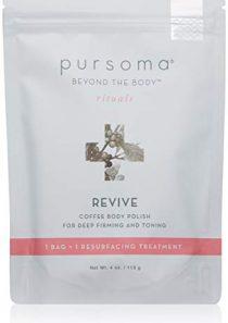 Pursoma REVIVE Coffee Body Polish For Deep Firming and Toning   Coffee Body Scrub Resurfacing Treatment with Sea Salt…