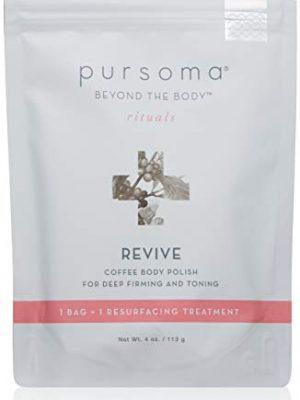 Pursoma REVIVE Coffee Body Polish For Deep Firming and Toning | Coffee Body Scrub Resurfacing Treatment with Sea Salt…