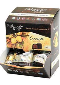 Righteously Raw Dark Chocolate Caramel Mouthfuls – Caramel Mouthfuls – RAW Organic, Vegan, Kosher, Gluten-Free, Non-GMO…