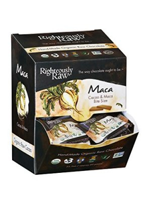 Maca Bites from Righteously Raw! From Pure Organic Dark Chocolate! Vegan, Kosher, Gluten-Free, Non-GMO, Dairy, Soy Free…