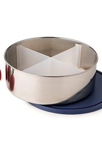 U Konserve – Divided Big Bowl, 3-in-1 Reusable Stainless Steel Container with Removable Divider, Multiple Dishes in One…