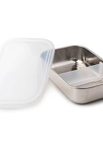 U Konserve – Divided Rectangle, Stainless Steel with Removable Dividers, Multiple Containers in One, Ideal for Lunches…